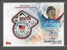 SUPER RARE 2014 TOPPS OLYMPIC BODE MILLER SOCHI PIN CARD ~ ALPINE SKIING LEGEND