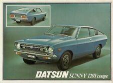 Nissan Datsun Sunny 120Y Coupe 1977-78 UK Market Single Sheet Sales Brochure