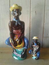 2 Collectable Vintage 'Negro Drummer' Drioli Liqueur Ceramic bottles