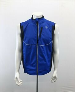 GOLD'S GYM Athletic Vest Men's Small Blue Black Full Zip Polyester