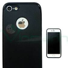 Pellicola+Custodia cover CARBON FIBER TPU+plastica per Apple iPhone 7 bumper