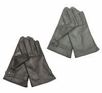 NEU Bundeswehr Echtleder Winter Handschuhe gefüttert grau schwarz S-3XL 7-12