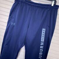 Under Armour Cold Gear Fleece Jogger Pants Auburn Tigers Blue Men's XL