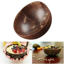 Coconut Shell Bowl Spoon Craft Fruit Salad Noodle Rice Food Home Tool NEW