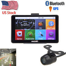 """2017 7"""" 8Gb Lcd Touch Screen Car Gps Navigation Bluetooth+Rear View Camera"""