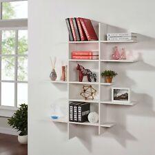 Danya B™ Five Level White Asymetric Wall Shelf XF151204WH