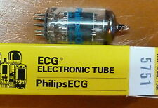 Matched pair tubes 5751 = 12AX7 ECC83 SUBSTITUTE AUDIO NOS NIB PHILIPS TESTED