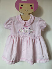9-12 Months Girls Baby Pink Collared Dress Teddy Whoops! Vintage Retro Style