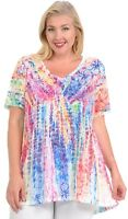 Hibiscus on Colorful Tie Dye Soft n light One By One Print Sublimation MSVT-R340