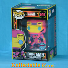 Iron Man Funko Pop 649 Black Light Figure 9cm Special Edition Marvel Tony Stark
