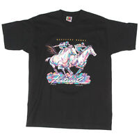 NEW KENTUCKY DERBY 1997 Horse Racing Mens T-Shirt Black Tee Large NWOT