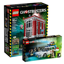 LEGO 75827 GHOSTBUSTERS FIREHOUSE + 21108 ECTO-1 Brand New Sealed(MISB) --DHL--