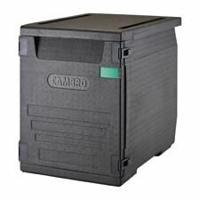 More details for cambro food pan carrier in black polypropylene with 9 rails & handles - 126 l