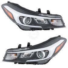 FIT KIA FORTE 2017 RIGHT LEFT HEADLIGHTS HEAD LIGHTS FRONT LAMPS W/O LED PAIR