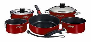 Magma A10-366-MR-2-IN Cookware, Nestable, Induction Cook-Top, 10 Piece Set, M