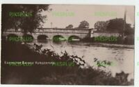 OLD POSTCARD EDDINGTON BRIDGE HUNGERFORD BERKSHIRE REAL PHOTO VINTAGE C.1920S