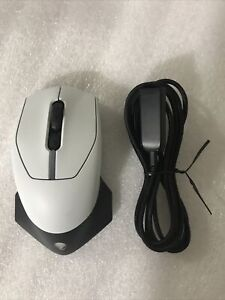 Alienware AW610M Wired/Wireless Optical RGB Computer Gaming Mouse 7 Buttons Wht