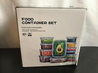 Veken Food Storage Containers with Airtight Lids -Plastic Reusable, Stackable