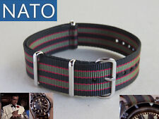 BRACELET MONTRE NATO 22mm BOND chronograph military mechanical watch strap band