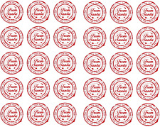 30 x Printed From Santa Stamp Present Father Christmas Letter Gift Stickers