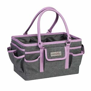 Everything Mary Purple Heather Deluxe Store/Tote Caddy, Desk Craft Organiser