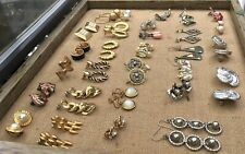 Lot Assorted Earrings Some Mostly Unmarked Vintage Some Monet