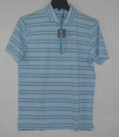 NEW G/FORE G4 Men's Blue Striped Golf Polo Shirt Size Medium $125