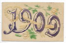 1909 New Year embossed postcard