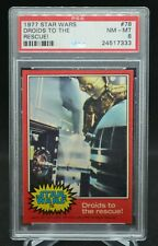 Star Wars 1977 Topps, Red Border Series 2 #78 Droids to the rescue Psa 8 Nm Mt
