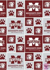 NCAA Mississippi State University Bulldogs Cotton Fabric By the Yard