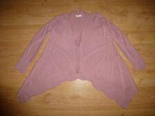 Odd Molly 188 Chunky Pink Waterfall Handkerchief Hem Wool Blend Cardigan 1 S 10