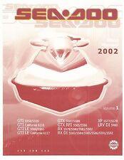 Sea-Doo Service Shop Manual 2002 GTI LE, GTI LE California, GTX & GTX RFI