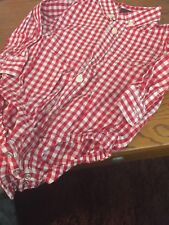 Baby Gap 18-24M One Piece Body Suit red/white check