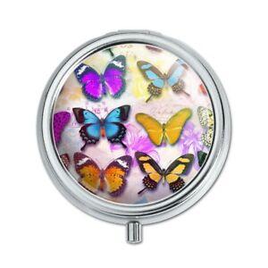Colorful Butterflies Butterfly Design Pill Case Trinket Gift Box