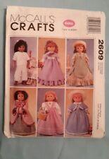 "McCall'S 18"" Doll Pattern # 2609 Gotz 2007"