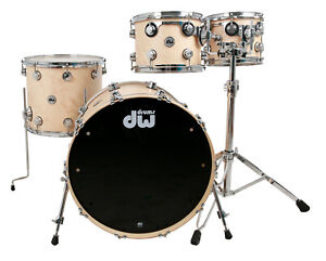 DW Collectors Drumset USA Satin Natural Maple Schlagzeug Batterie Bateria Drums