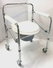 Convenient Commode Wheelchair Over Toilet Shower Compact Folding Design NEW