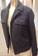 Theory Charcoal Heather Gray Short Bomber Style Jacket Coat Size XS