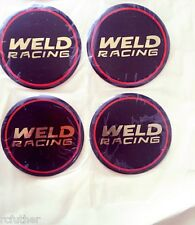 Weld Wheel Racing Decals 601-3010 Wheel Center Cap Racing Emblem 4-Pack Stickers