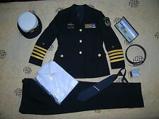 Obsolete 07's series China PLA Navy Woman Officer Uniform,Black,Set,(A)