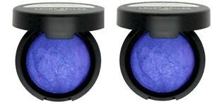 2 x Laura Geller Baked Pearl Eyeshadow - Tribeca Blue (electric cobalt) New Lot
