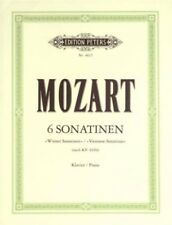 MOZART - 6 Viennese Sonatinas Peters Edition Piano Book *NEW* Sheet Music