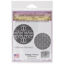 Vintage Pattern Ornament Cling Stamp Collection Our Daily Bread NEW christmas