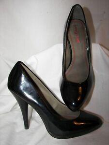 Gently Used Luxury Rebel Black Patent Platform Stiletto Heels 7M ?? 37.5