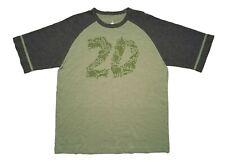 Disney Parks Animal Kingdom 20th Anniversary Green Graphic Raglan Mens T-Shirt M