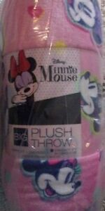"""New The Big One Disney's Minnie Mouse Pink Super Soft Plush Throw 60 x 72"""""""