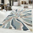 MODERN ROYAL TRENDY ABSTRACT DESIGN QUALITY RUG IN MULTICOLOUR, BROWN, NAVY BLUE
