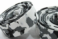 Road Bike Drop Bar Tape White/Black/Grey Camo Marble