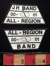 Texas Music 00-01 ATSSB BAND Patch JH & All Region Patch Lot Of 2 69C1