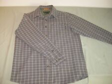 ROYAL ROBBINS LONG SLEEVE SHIRT PURPLE GREEN PLAID MEN'S MEDIUM